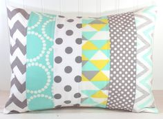Pillow Cover Nursery Pillow Cover Patchwork par theredpistachio, $22.50