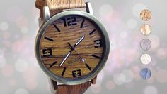 Wooden Styled Timepiece - 5 Colours Be both smart and sharp with this Wooden Styled Timepiece      Choose from brown, light brown, medium brown cream or blue      The PU wood grain effect gives it a unique twist      Large numerals and markers have a striking effect      Dial diameter 4cm, band width 2cm, band length 22cm      A stylish piece for those who always show up late      Save 85% with the Wooden Styled Timepiece for 11.99 pound instead of 79.99 pound BUY NOW for just GBP11.99