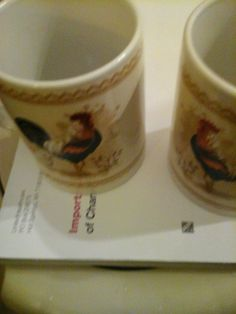 SET OF 2 Always Home ROOSTER COFFEE MUGS