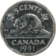 1951 high relief 5 cents top 10 rare Canadian nickels