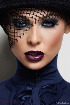 make-up-is-an-art:    missmaryg:    makeupartistsmeet:    Dark Lips. Makeup/Hair/Photographer/Model Unknown    Fierce!    Aaaah I love dark lips! I don't care if they look better during the winter, I'll wear them out.