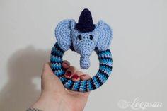Edward - The Elephant Rattle ~ Free Amigurumi Pattern http://www.loopsan.com/crochet/edward-circus-elephant-rattle-free-pattern/