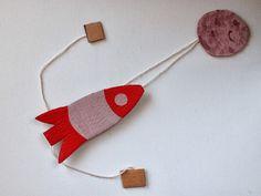 Nave espacial de cartón Escalada Toy | Pink Stripey Calcetines