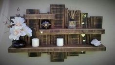 Use Pallet Wood Projects to Create Unique Home Decor Items Wooden Pallet Shelves, Wooden Pallet Projects, Pallet Crafts, Wooden Pallets, Wood Crafts, Diy Projects, Project Ideas, Pallet Wood, Wood Shelf