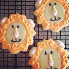 Lion Sugar Cookies 1 Dozen by TheSweetBCookies on Etsy