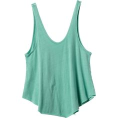 RVCA Women's  Label Drape Tank Top ($24) ❤ liked on Polyvore featuring tops, shirts, tank tops, crop top, tanks, green, rvca shirts, jersey shirt, loose crop top and green top