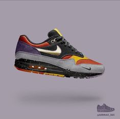 Year 2 Day Air Max 1 Planetary Day 41 features a cool grey ripstop mudguard . Best Sneakers, Air Max Sneakers, Sneakers Fashion, Nike Air Shoes, Men's Shoes, Shoes Sneakers, Air Max One, Sneaker Bar, Baskets