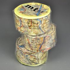 To remind you of all the wonderful places you have been and those where you dream to be.30mmx10mMade in JapanMap tape is actually one map cut into three rolls.  We will not be able to pick which roll will go in your order as it is very hard to tell which roll is which.