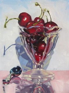 "Daily Paintworks - ""BE MY CHERRY SUNDAE"" by Mb Warner"