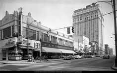 This black and white photograph depicts the F. W. Woolworth Company building in Greensboro, NC six months before the lunch counter sit-ins protesting business segregation. The view is looking north on South Elm Street. The photograph was taken on August 26, 1959, by Carol W. Martin of Martin's Studios in Greensboro. Photograph copyright by Carol W. Martin/Greensboro Historical Museum Collection (http://archives.greensborohistory.org/photographs)