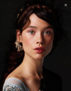 Artist: Simon Procter, photographer {beautiful brunette female head woman face portrait}