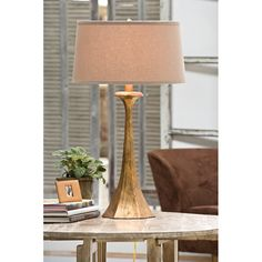 Tapered Hex Column Lamp - Table - Lighting