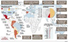 Mapa de todos los países que hablan español