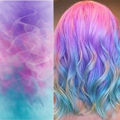 Luscious pastel mermaid hair color by Melissa Smith of Roots Hair Loft. Pastel hair Color Melt Balayage Ombre Rainbow Hair fb.com/hotbeautymagazine
