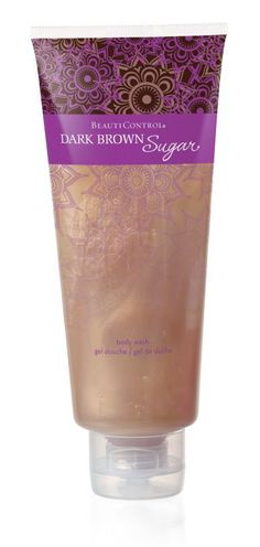 #BeautiControl Dark Brown Sugar Body Wash - Drench your skin in moisturizing emollients and vitamins while gently cleansing your body in a luxurious, creamy lather. The soft scents of apple, fig, creamy coconut and soft, velvety musk will linger lightly on your skin, leaving you feeling refreshed, rich and silky smooth.