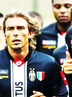 Antonio Conte, en su epoca de jugador juventino Antonio Conte, Juventus Fc, Club, Soccer, Football, Baseball Cards, Women, Gorgeous Lady, Past Tense