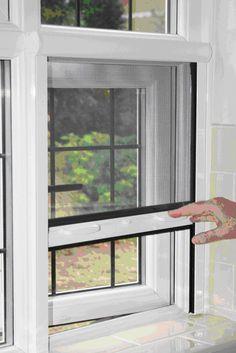 Doors windows on pinterest doors screens and old doors for Retractable window fly screens