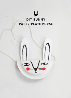 DIY Bunny Paper Plate Purse