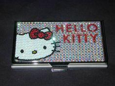 Hello Kitty & Swarovski Glitter Card Case!
