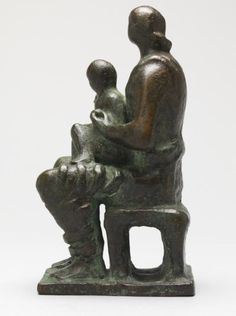 Moore OM, CH 'Maquette for Madonna and Child', cast © The Henry Moore Foundation. All Rights Reserved Bronze Sculpture, Sculpture Art, Henry Moore Drawings, Henry Moore Sculptures, Saint Matthew, Female Torso, Madonna And Child, Land Art, Mother And Child