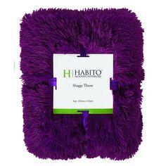 Habito Throw Shaggy Boysenberry 127cm x 152cm