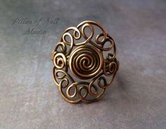 Wire wrapped ring copper wire jewelry boho jewelry earthy wire wrapped jewelry handmade by PillarOfSaltStudio