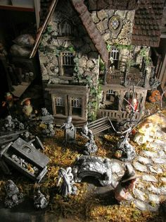 Post with 37 votes and 3601 views. Tagged with halloween, miniatures, dollhouse; Various spooky dollhouses & miniatures for Halloween - /r/dollhouses Halloween Town, Halloween Village Display, Halloween Fairy, Halloween Decorations, Haunted Dollhouse, Haunted Dolls, Haunted Houses, Dollhouse Kits, Dollhouse Miniatures
