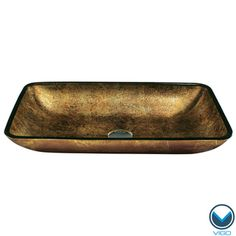 @Overstock.com - VIGO Rectangular Copper Glass Vessel Bathroom Sink - The VIGO rectangular copper glass vessel bowl features striking colors and design to bring a modern elegance to your home. The sink is handmade with possible unique and slight color variations, so no two sinks are identical.  http://www.overstock.com/Home-Garden/VIGO-Rectangular-Copper-Glass-Vessel-Bathroom-Sink/4290969/product.html?CID=214117 $106.99