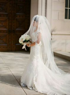 Amazing Multi Layered Cathedral Length Bouffant Bridal Veil