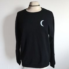 Moon Child Sweatshirt, Moon Phase Sweatshirt, Tumblr Sweatshirt, Tumblr Clothing, Grunge Sweatshirt, 90s Grunge Clothing, Women's Sweatshirt by CaseysMagnolia on Etsy https://www.etsy.com/listing/259462863/moon-child-sweatshirt-moon-phase