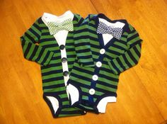 Twin Boys Cardigan and Bowtie set Baby by EllerbysChicBoutique