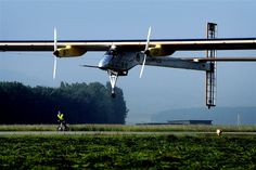 The Flying Tortoise: May 2012-Solar Airplane Begins Its First Transatlantic Flight.  An experimental solar-powered airplane.