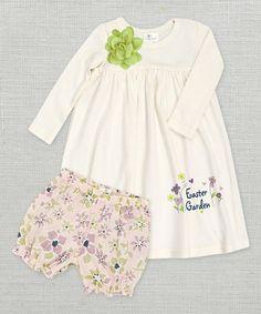 Look at this #zulilyfind! Ivory 'Easter Garden' Dress & Bloomers - Infant by Truffles Ruffles #zulilyfinds