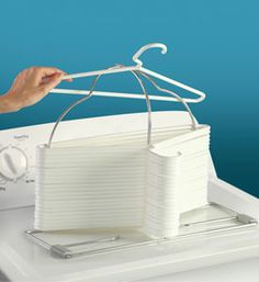 Clothes Hanger Storage Rack helps you organize hangers and spares you the frustration from your tangled closet.