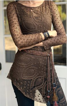 Outstanding Crochet: Peruvian Connection #Crochet Doily Tunic.