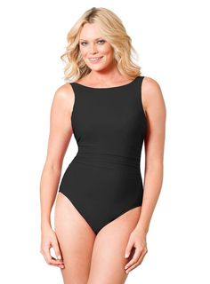 10d6944a9f The iconic appeal of the Miraclesuit D-Cup Solid Regatta Swimsuit, #C76706D,