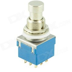 SW-3PDT No Lock 9-Pin Foot Switch - Silver + Blue (AC 250V / 2A). Brand N/A Model SW-3PDT Quantity 1 Color Silver + blue Material Plastic Specification Rated current: 2A; Rated voltage: AC 250V Features No lock 9-pin foot switch Application Various electric products or DIY projects Other Contact resistance: 20m ohm max.; Insulation resistance: >= 100m; Dielectric strength: AC 1000V; Electrical life: 10000 times cycle English Manual/Spec N/A Packing List 1 x Foot switch. Tags: #Electrical…