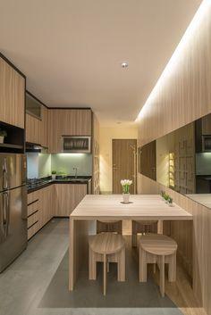 Apartment Interior Design Jakarta contemporary, modern | living room | concealed glow condo