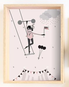 Kids wall decor - Stronggirl at the circus - Kids Room Decor / Nursery Art Print… Kids Wall Decor, Room Decor, Kids Artwork, Nursery Art, Art For Kids, Kids Room, Mighty Girl, Girly Girls, Art Prints
