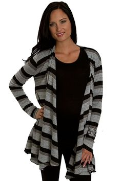 Everly Grey Sherman Cardigan Sweater - Chicago Black | Maternity Clothes  www.duematernity.com