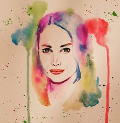 Christy Turlington watercolor portrait by Suzan Sümer Watercolor Portraits, Watercolor Tattoo, Christy Turlington, Digital Portrait, My Arts, Photo And Video, Painting, Instagram, Painting Art
