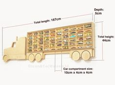 Hot Wheels Regal Spielzeugauto Lagerung LKW Regal US Etsy - Cars and motorcycles Toy Storage Shelves, Toy Car Storage, Birthday Box, Idee Diy, Gifts For Boys, Etsy, Wooden Toys, Special Gifts, Crafts