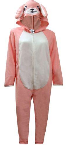 3a4e9da05f WebUndies.com Pink Bunny Hooded Onesie Pajama One Piece Pajamas