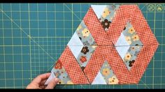 This is another way to place equilateral triangles to get an interesting design. Full tutorial- link in the description #sewing #quilting #patchwork #videotutorial #sewingvideo #equilateraltriangle #60degreeruler