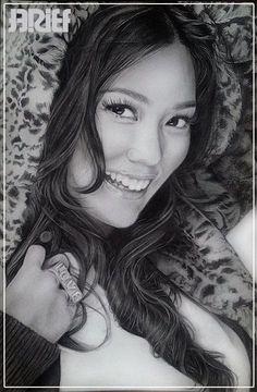 sandara park 2ne1 pencil drawing by p2m pham minh man (Viet nam)