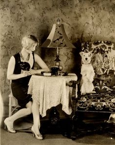 Alice White jack russle and deco lampshade