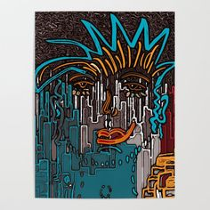 Lost in a City of Millions Poster by Blank Walls, Diy Frame, Graffiti Art, Cool Diy, Poster Wall, Urban Art, High Quality Images, Vibrant Colors, Street Art