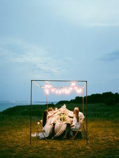 Nighttime Beach Weddings - photo by Vitaly Ageev