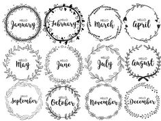 JOURNAL MONTHLY COVERS, wreath, monthly, bullet journal, printable bullet journal, pdf, cute, journaling, diary, month, organizational This listing is for a set of 12 monthly covers. They are letter size, in PDF format and PPTX format. They are editable! Perfect for use in