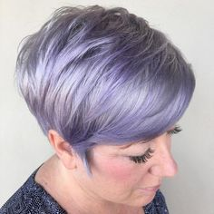 Side-Combed Long Pixie Hairstyle